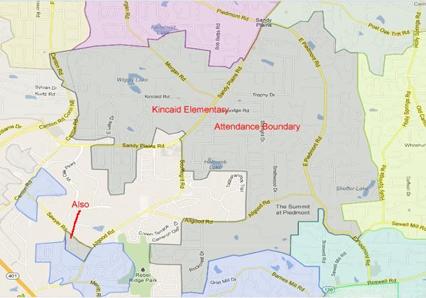Kincaid Elementary School Attendance Zone