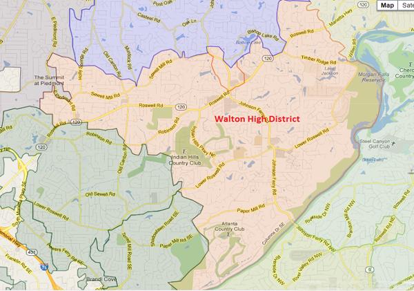 Walton High School Attendance Zone Map